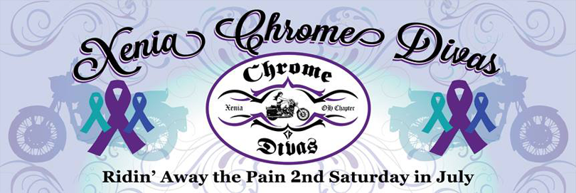 4th Annual Xenia Chrome Divas  Ridin' Away the Pain Poker Run
