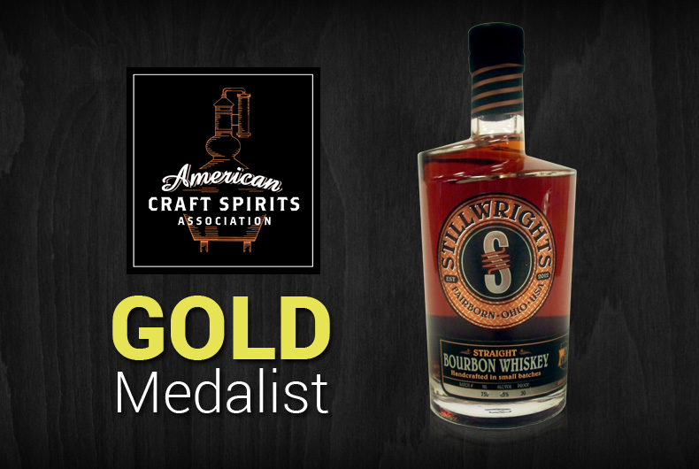 Stillwrights Ohio Bourbon Awarded Gold Medal by American Craft Spirits Association